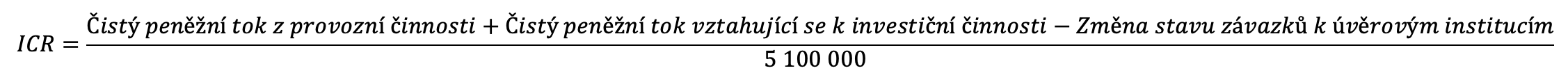 Výpočet ICR